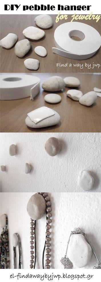 Que tal usar pedras bem bonitas na parede?